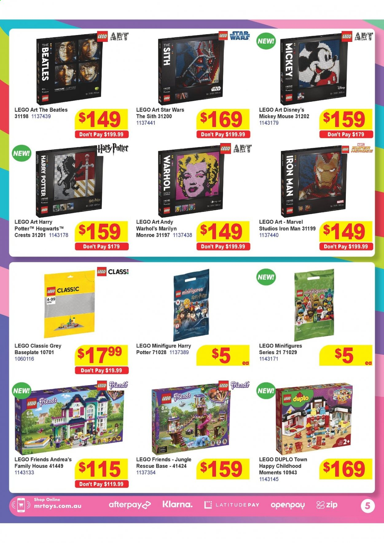 Mr Toys catalogue  - 16.3.2021 - 12.4.2021. Page 5.