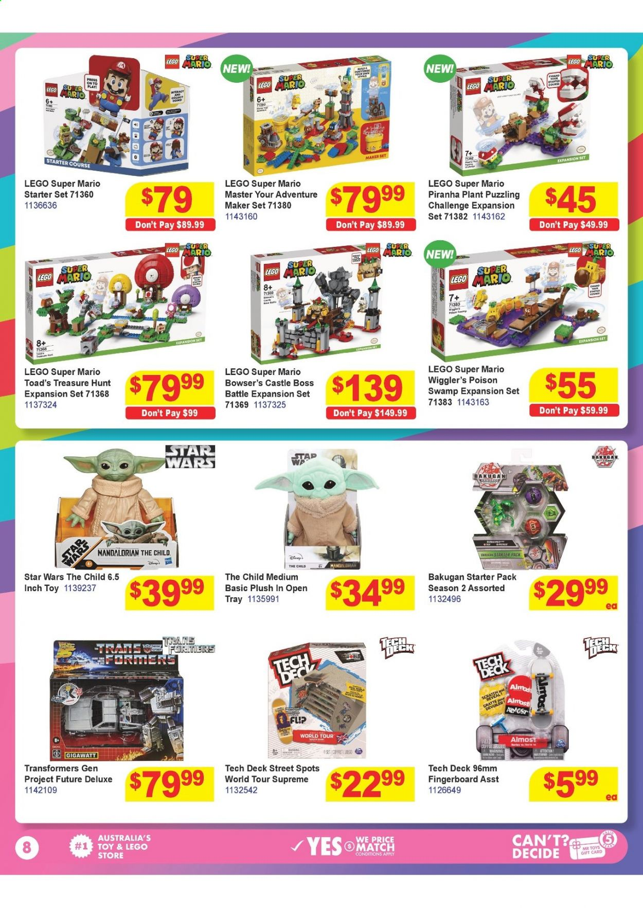 Mr Toys catalogue  - 16.3.2021 - 12.4.2021. Page 8.
