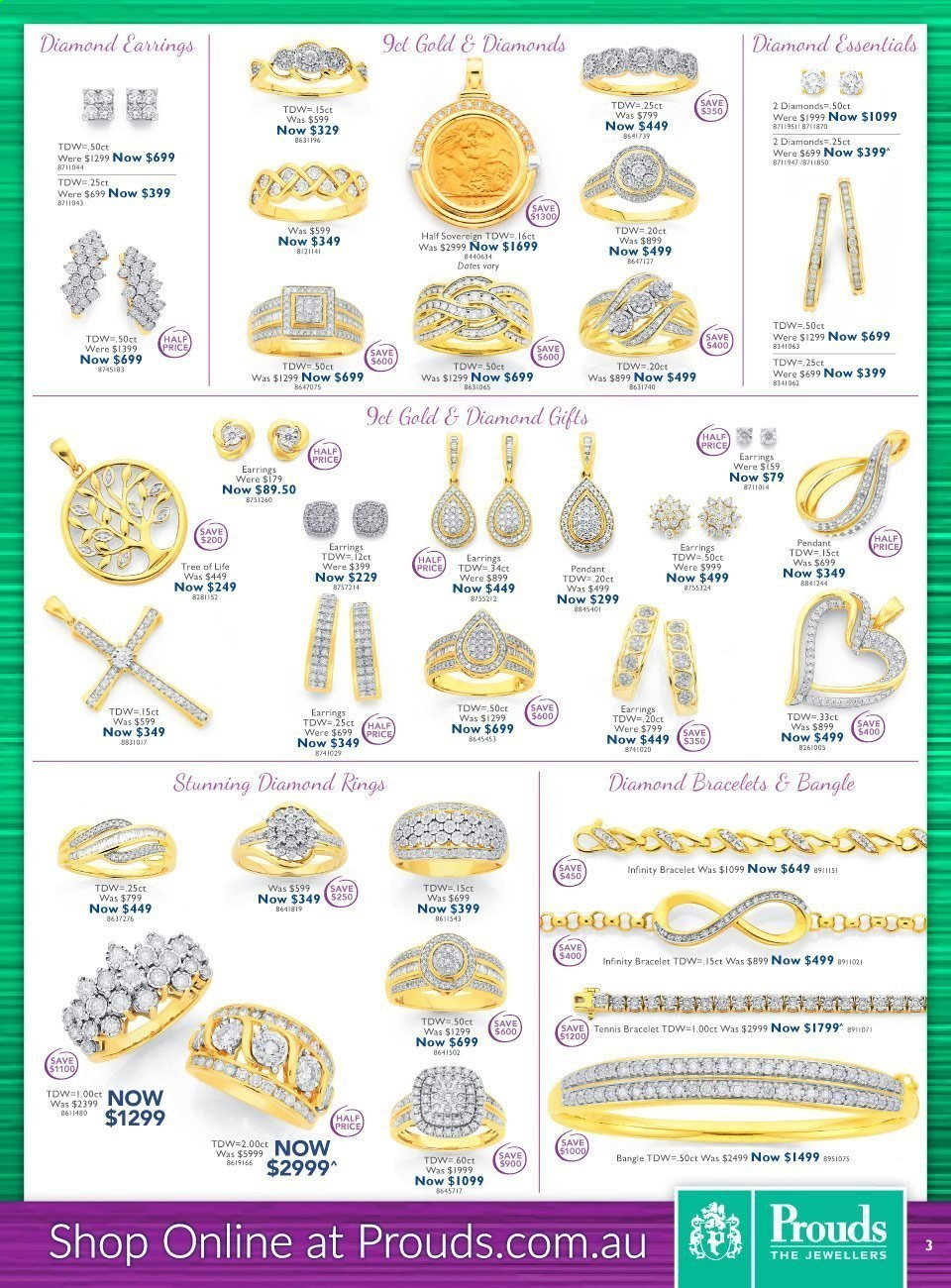 Prouds The Jewellers catalogue  - 15.3.2021 - 11.4.2021. Page 3.