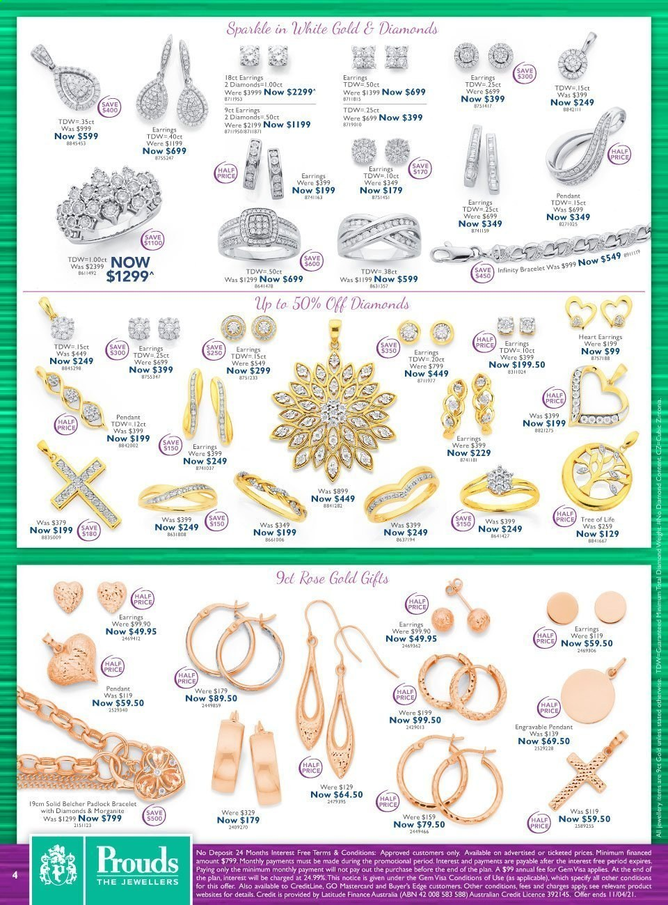 Prouds The Jewellers catalogue  - 15.3.2021 - 11.4.2021. Page 4.