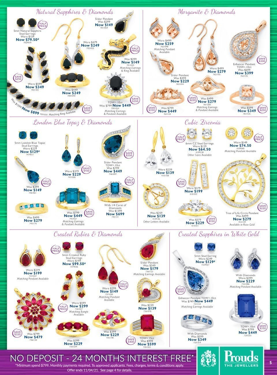 Prouds The Jewellers catalogue  - 15.3.2021 - 11.4.2021. Page 5.