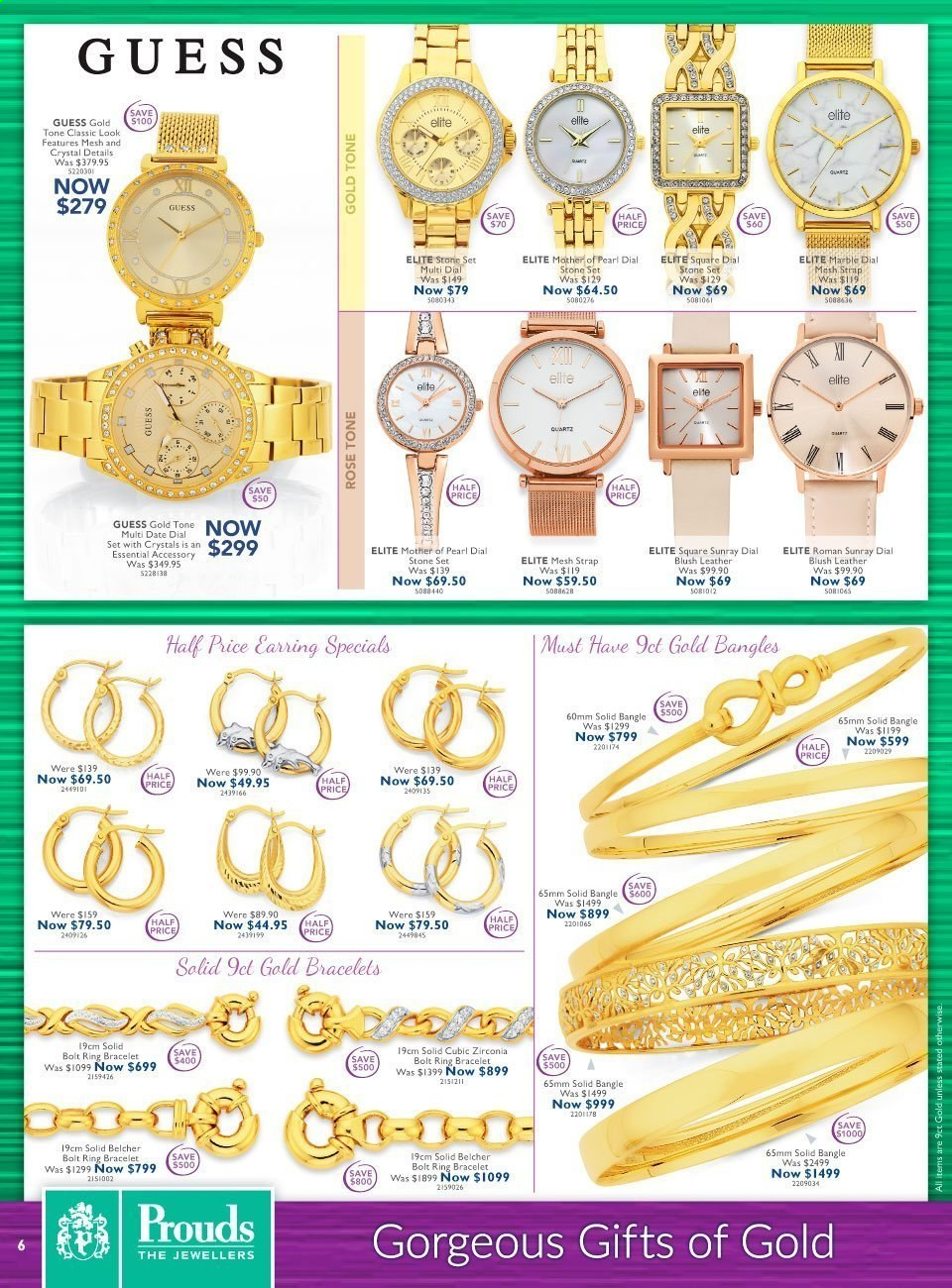 Prouds The Jewellers catalogue  - 15.3.2021 - 11.4.2021. Page 6.