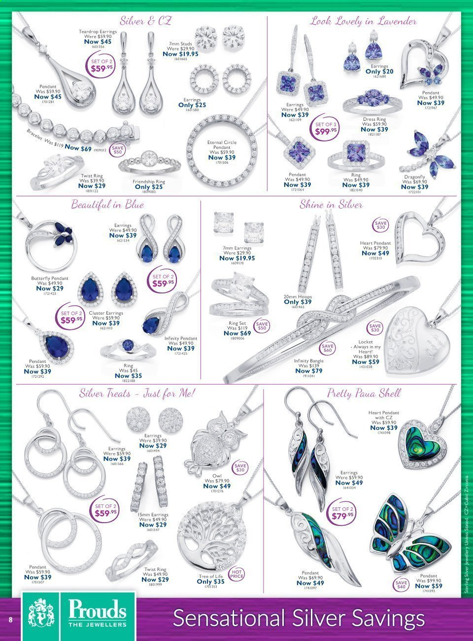 Prouds The Jewellers catalogue  - 15.3.2021 - 11.4.2021. Page 8.
