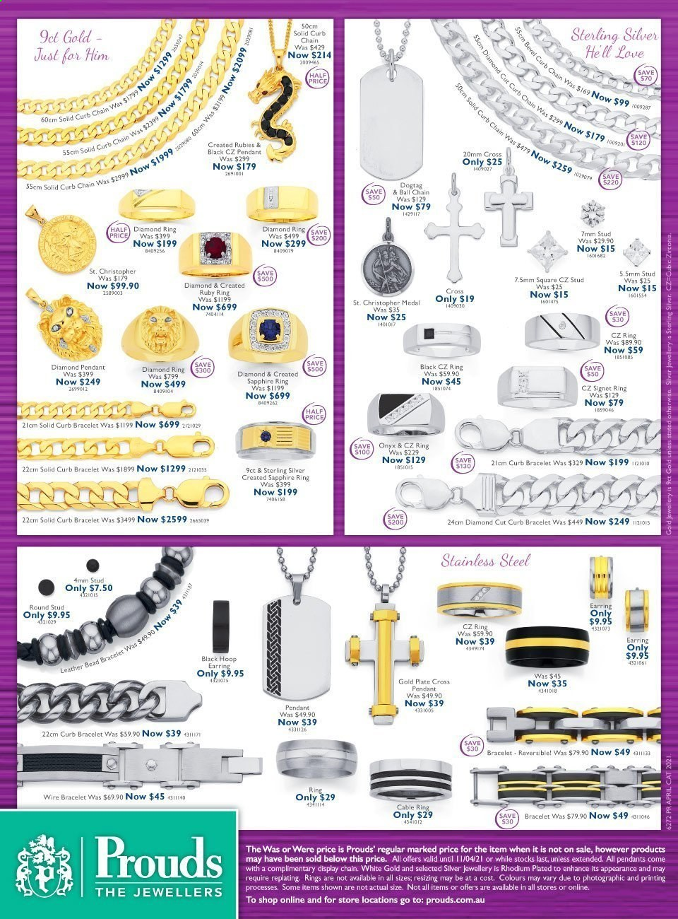 Prouds The Jewellers catalogue  - 15.3.2021 - 11.4.2021. Page 10.