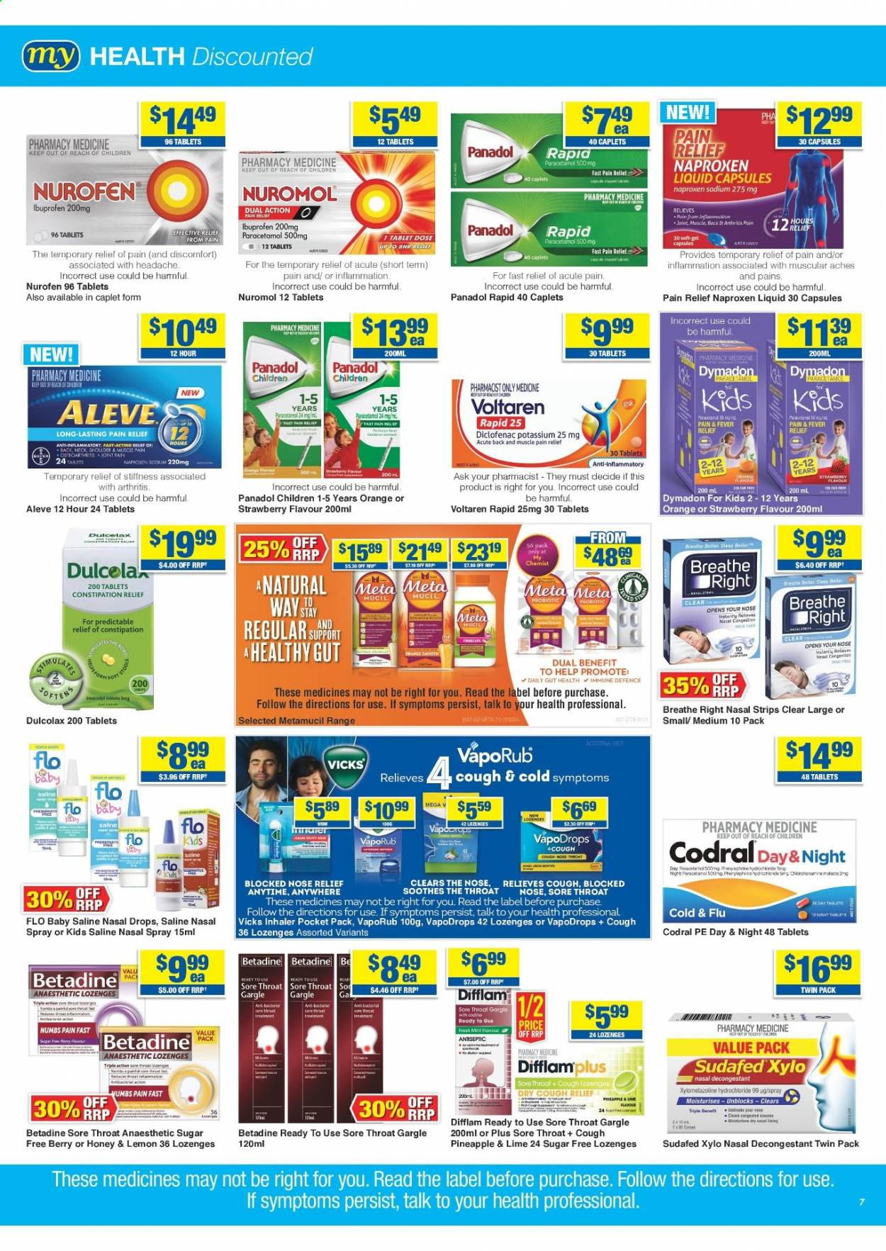 My Chemist catalogue  - 25.3.2021 - 14.4.2021. Page 7.