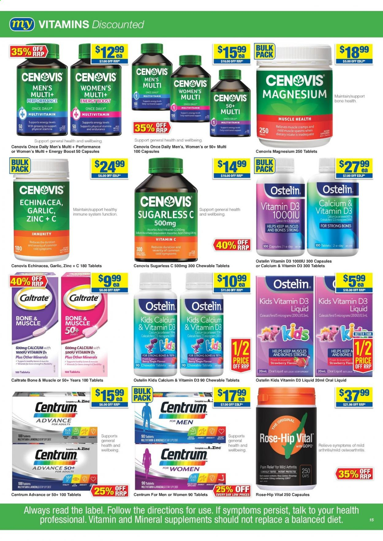 My Chemist catalogue  - 25.3.2021 - 14.4.2021. Page 15.