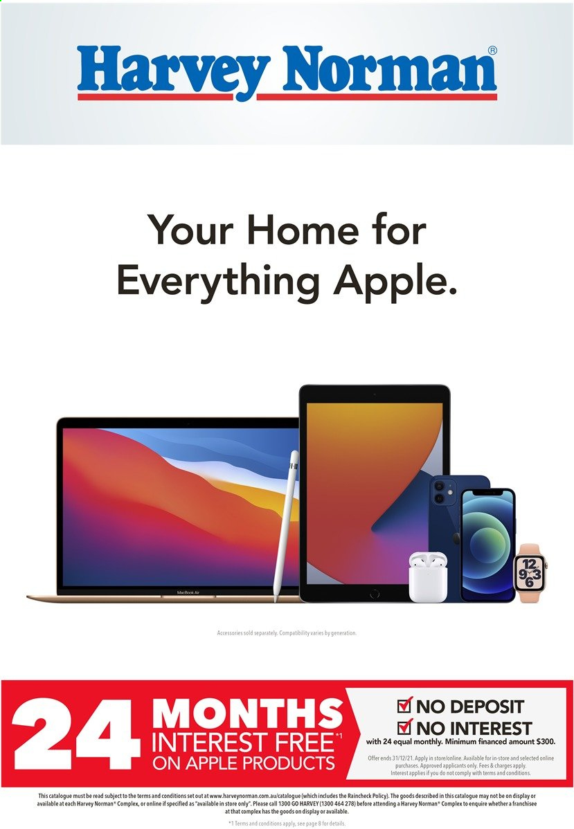 Harvey Norman catalogue  - 29.3.2021 - 14.4.2021. Page 1.