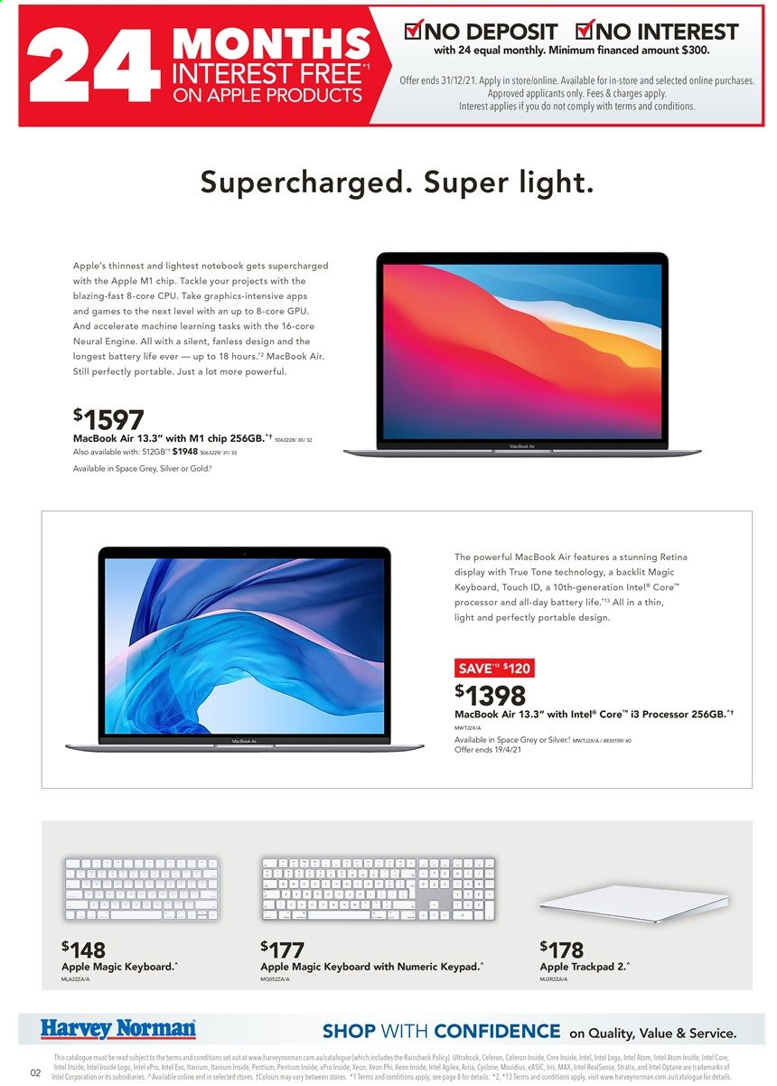Harvey Norman catalogue  - 29.3.2021 - 14.4.2021. Page 2.