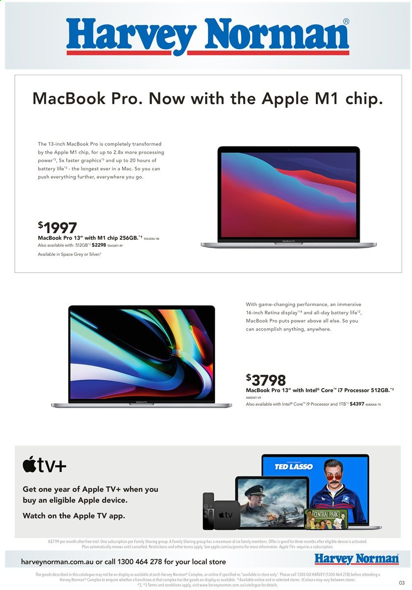 Harvey Norman catalogue  - 29.3.2021 - 14.4.2021. Page 3.