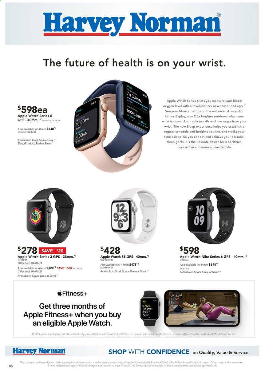 Harvey Norman catalogue  - 29.3.2021 - 14.4.2021. Page 6.
