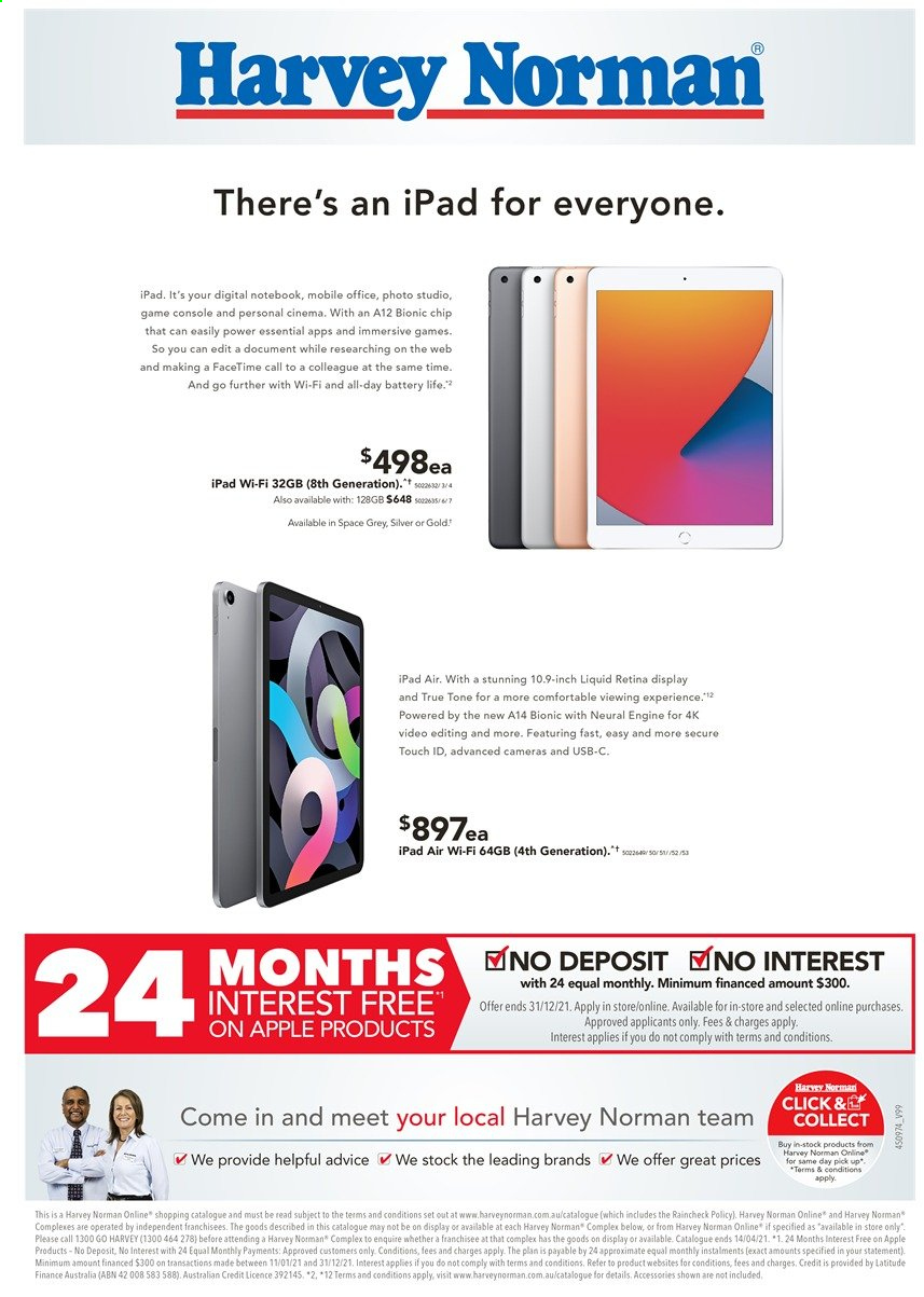 Harvey Norman catalogue  - 29.3.2021 - 14.4.2021. Page 8.