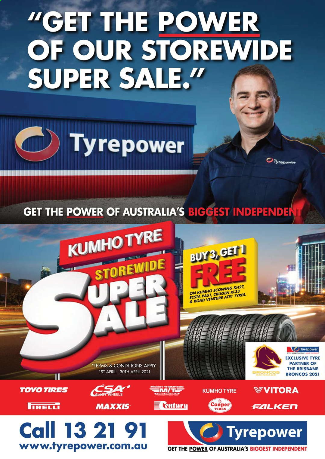 Tyrepower catalogue  - 1.4.2021 - 30.4.2021. Page 1.
