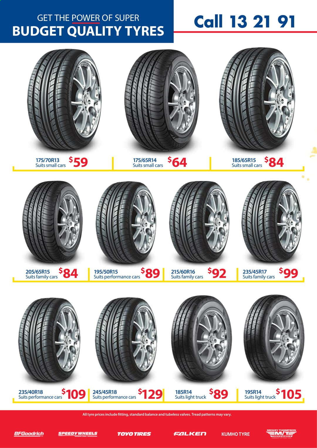 Tyrepower catalogue  - 1.4.2021 - 30.4.2021. Page 2.