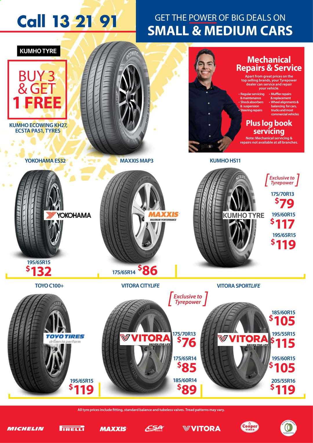 Tyrepower catalogue  - 1.4.2021 - 30.4.2021. Page 3.