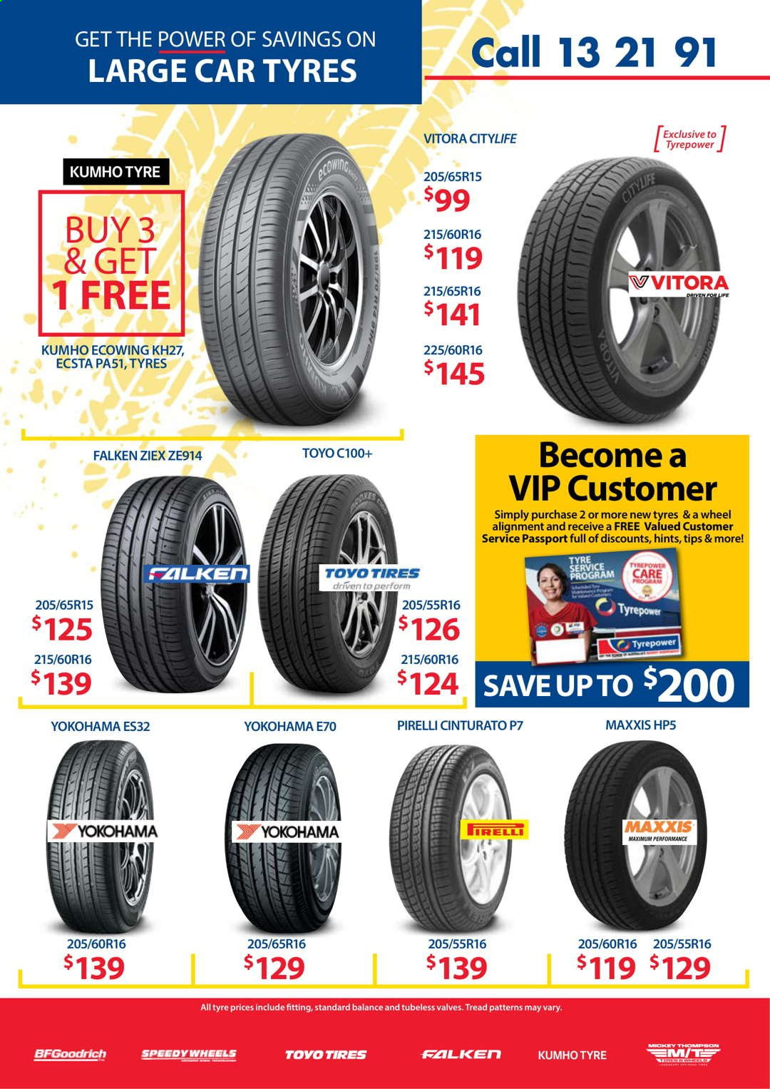 Tyrepower catalogue  - 1.4.2021 - 30.4.2021. Page 4.