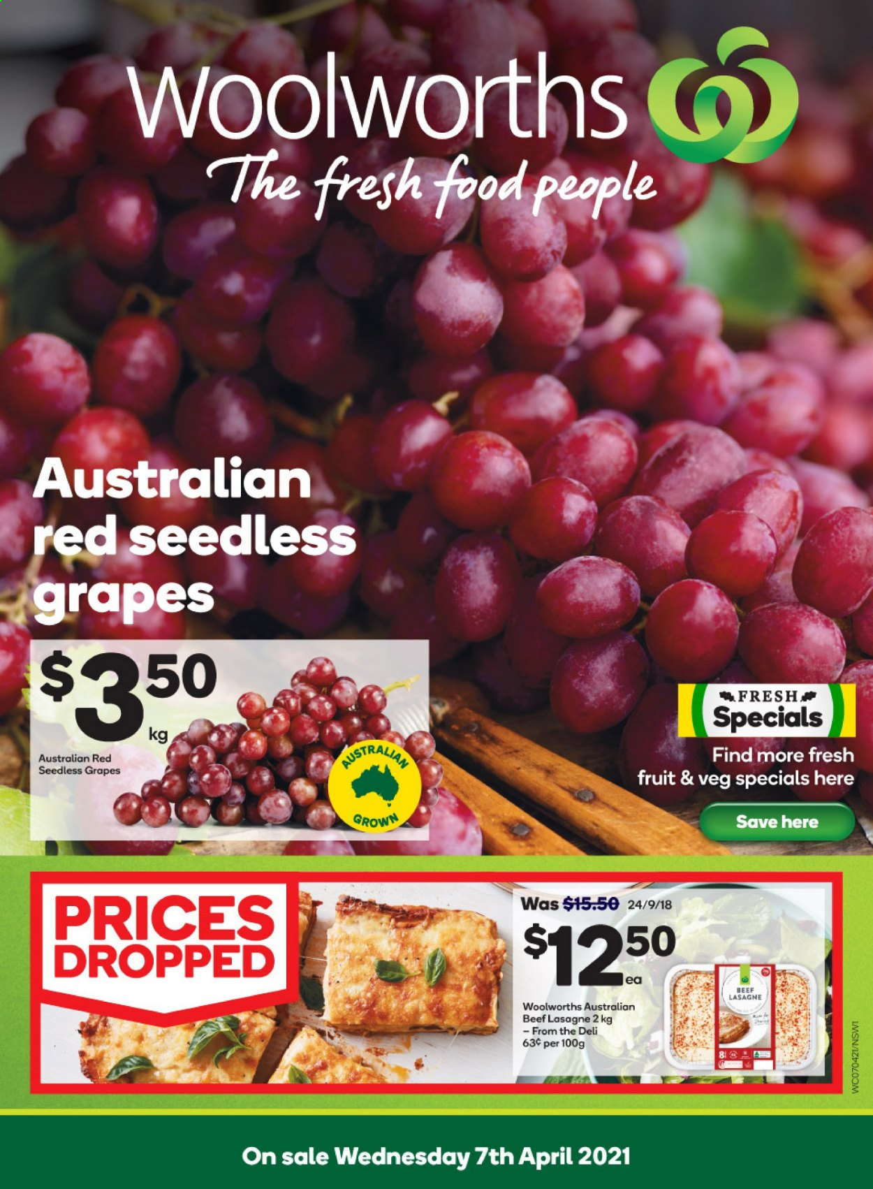 Woolworths catalogue  - 7.4.2021 - 13.4.2021. Page 1.