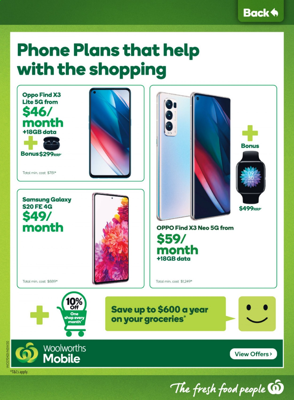 Woolworths catalogue  - 7.4.2021 - 13.4.2021. Page 30.