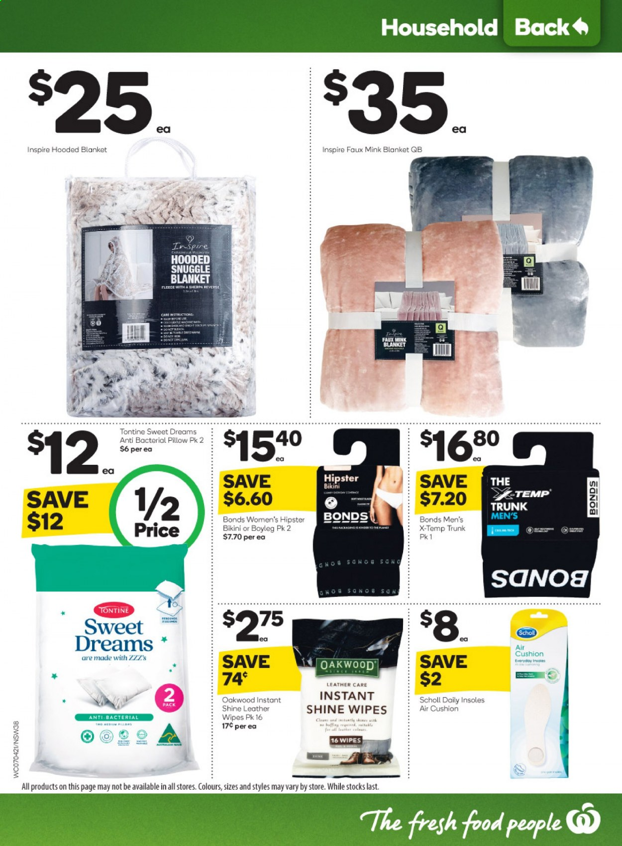 Woolworths catalogue  - 7.4.2021 - 13.4.2021. Page 38.