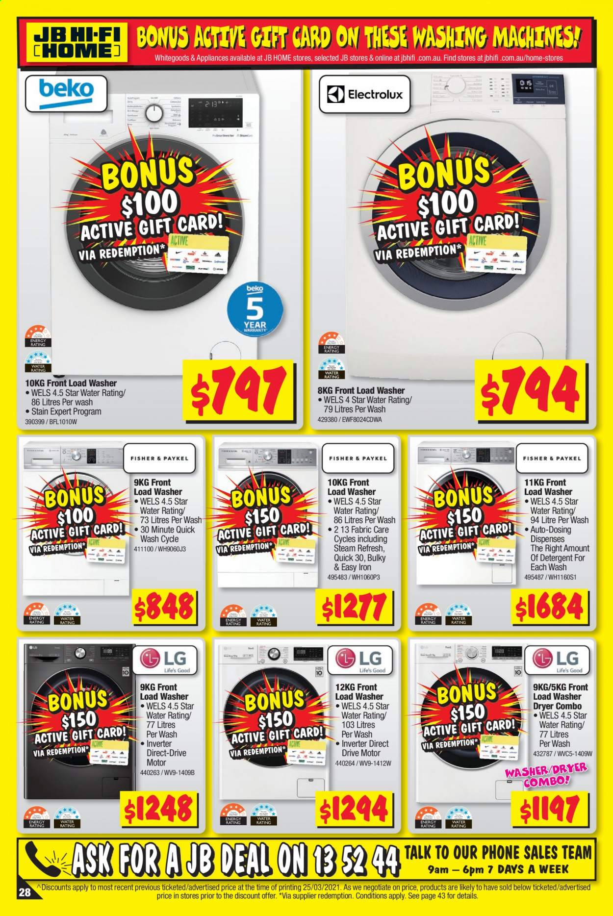 JB Hi-Fi catalogue  - 8.4.2021 - 21.4.2021. Page 28.
