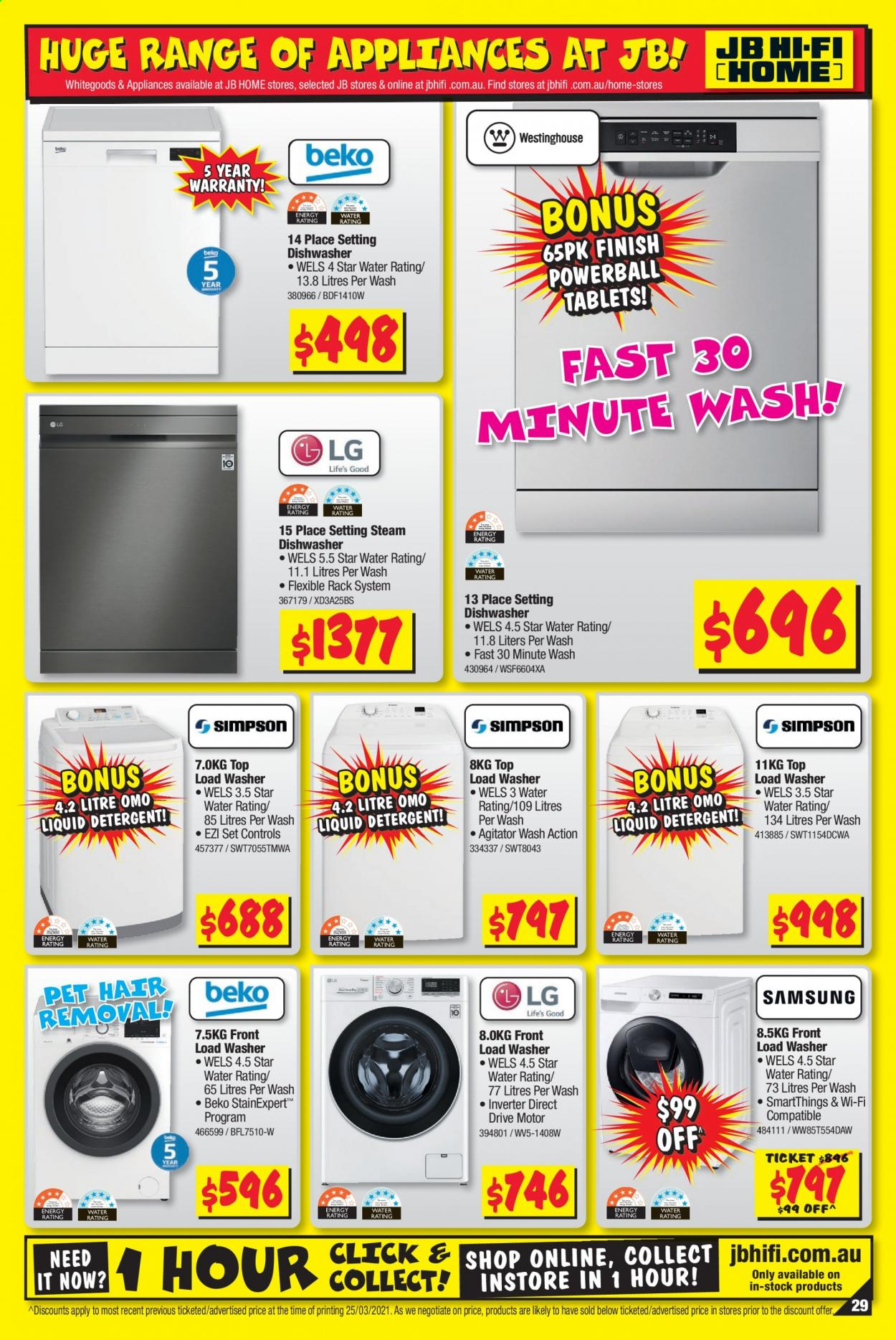 JB Hi-Fi catalogue  - 8.4.2021 - 21.4.2021. Page 29.
