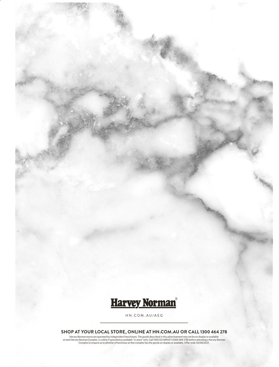 Harvey Norman catalogue  - 26.4.2021 - 30.6.2021. Page 12.