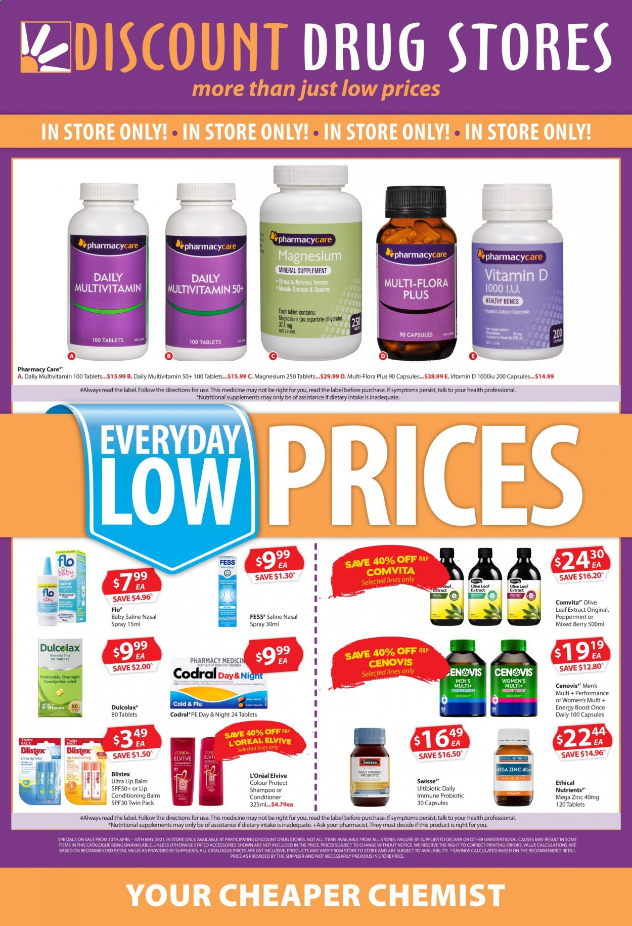 Discount Drug Stores catalogue  - 30.4.2021 - 10.5.2021. Page 1.