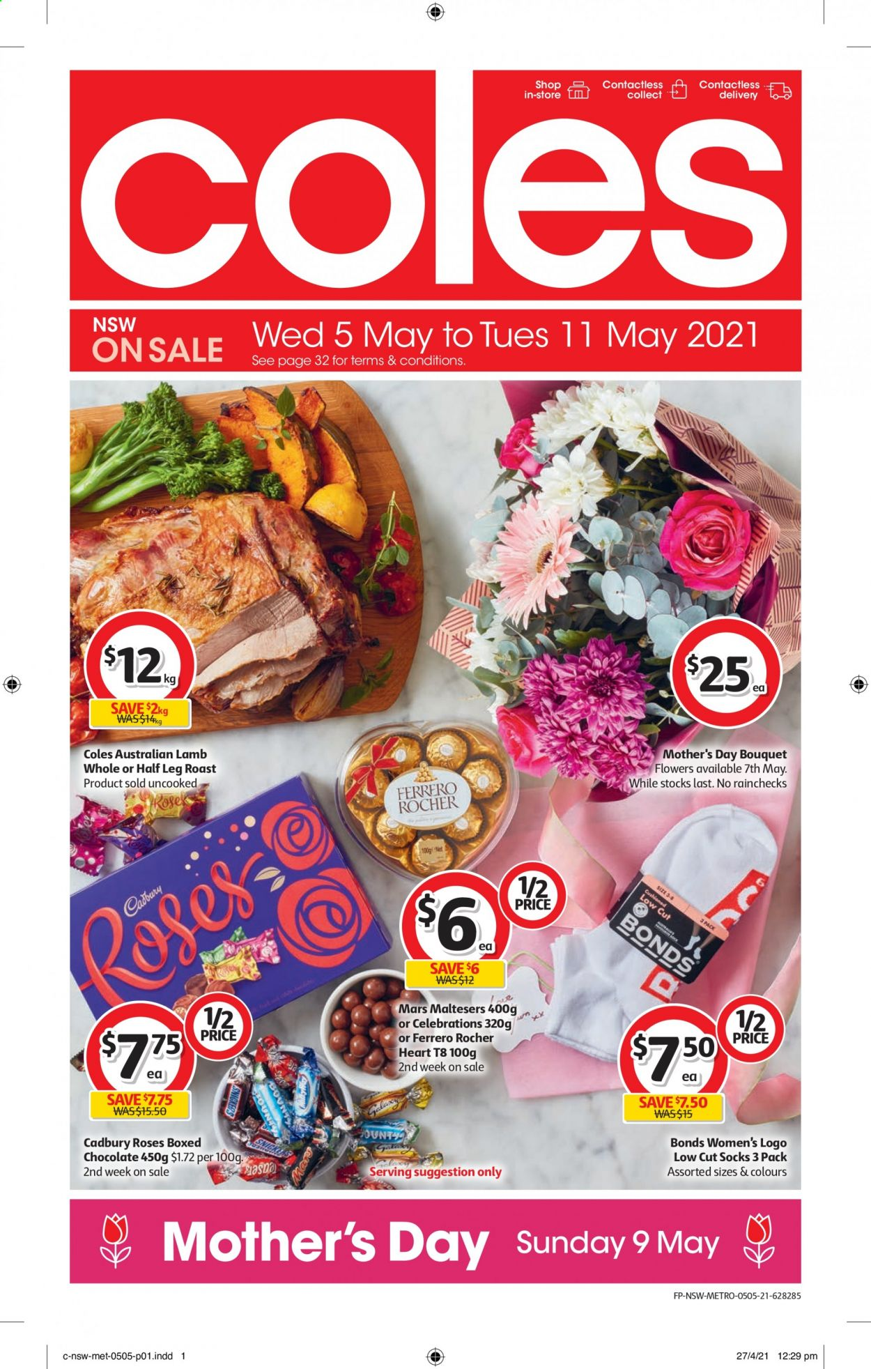 Coles catalogue  - 5.5.2021 - 11.5.2021. Page 1.