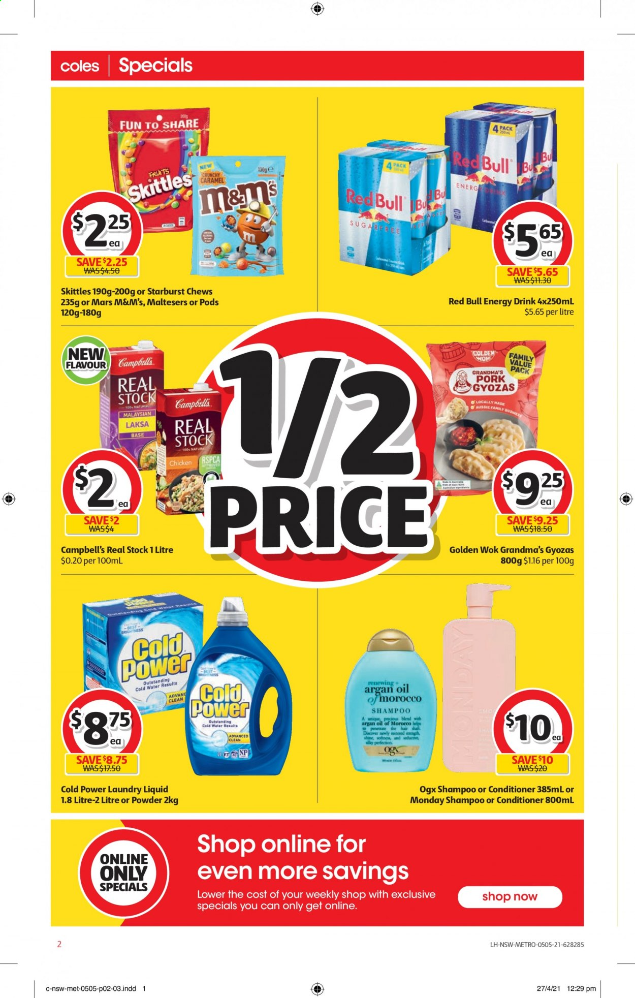 Coles catalogue  - 5.5.2021 - 11.5.2021. Page 2.