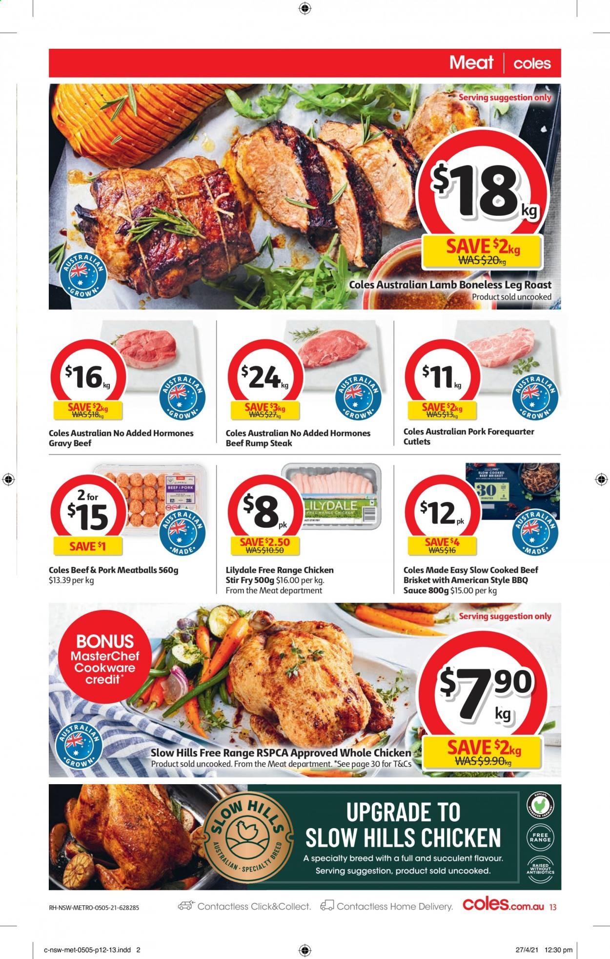 Coles catalogue  - 5.5.2021 - 11.5.2021. Page 13.