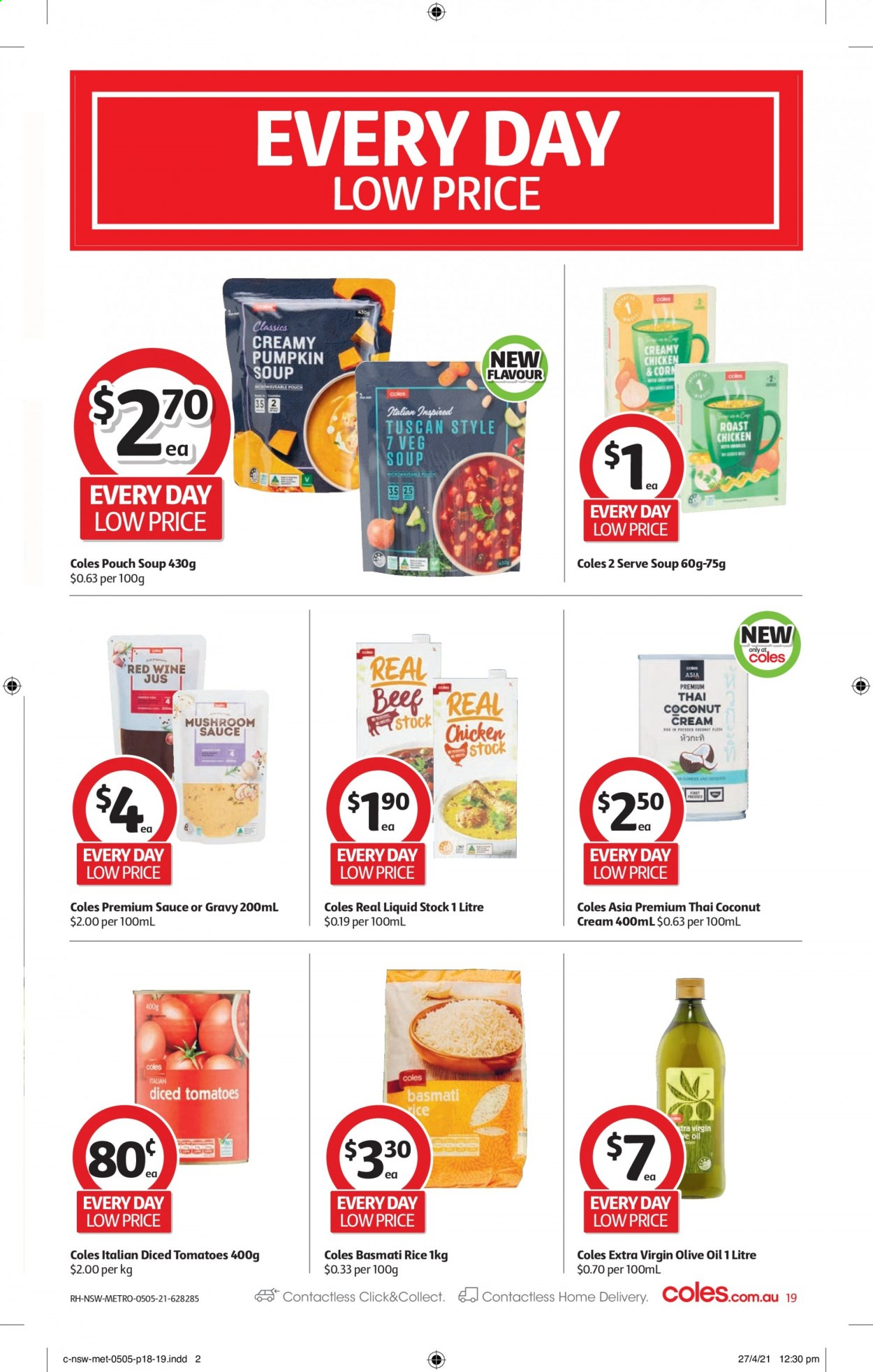Coles catalogue  - 5.5.2021 - 11.5.2021. Page 19.
