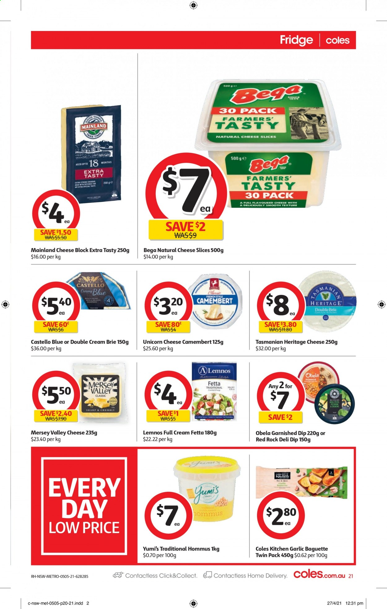 Coles catalogue  - 5.5.2021 - 11.5.2021. Page 21.
