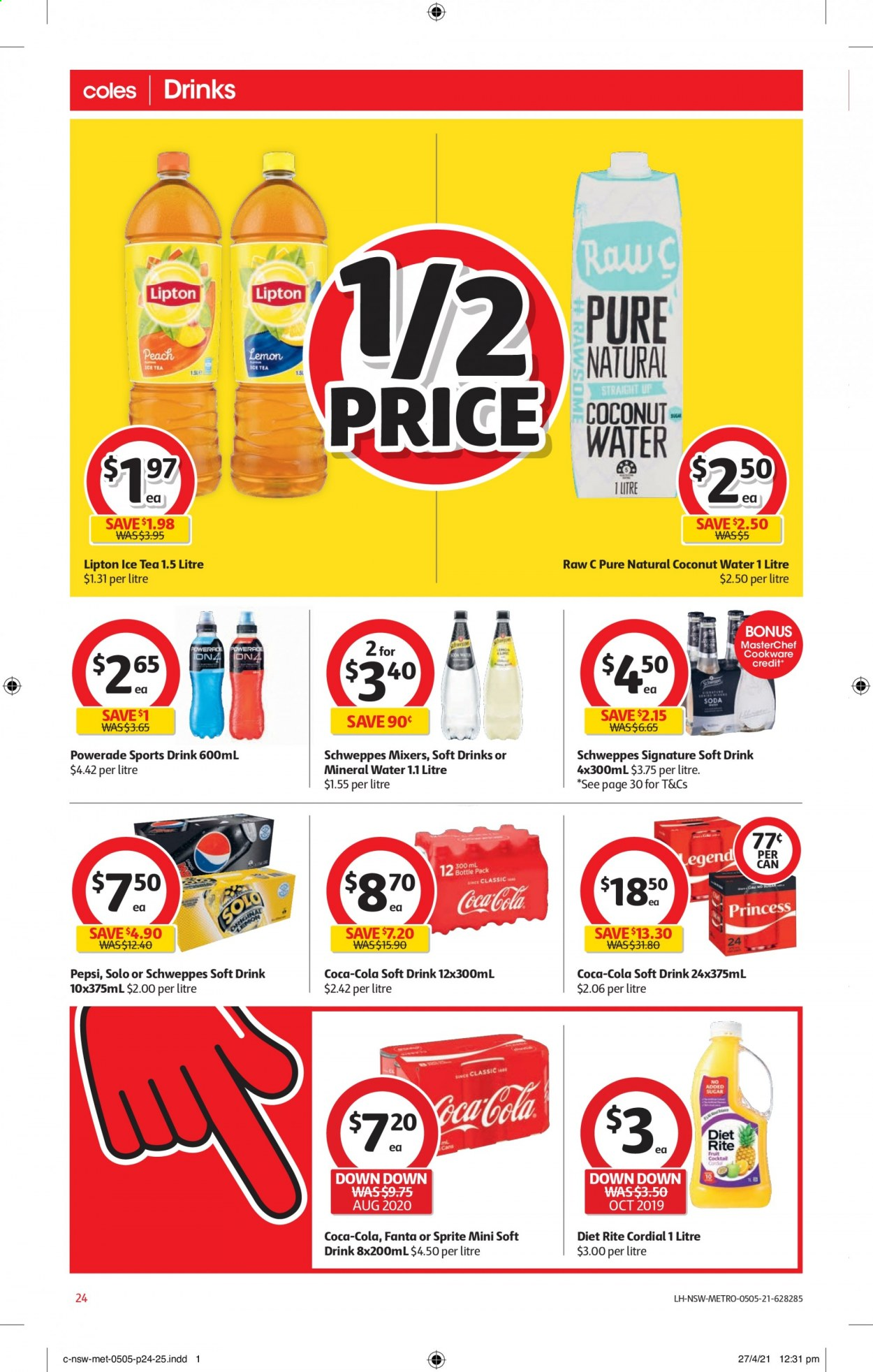 Coles catalogue  - 5.5.2021 - 11.5.2021. Page 24.