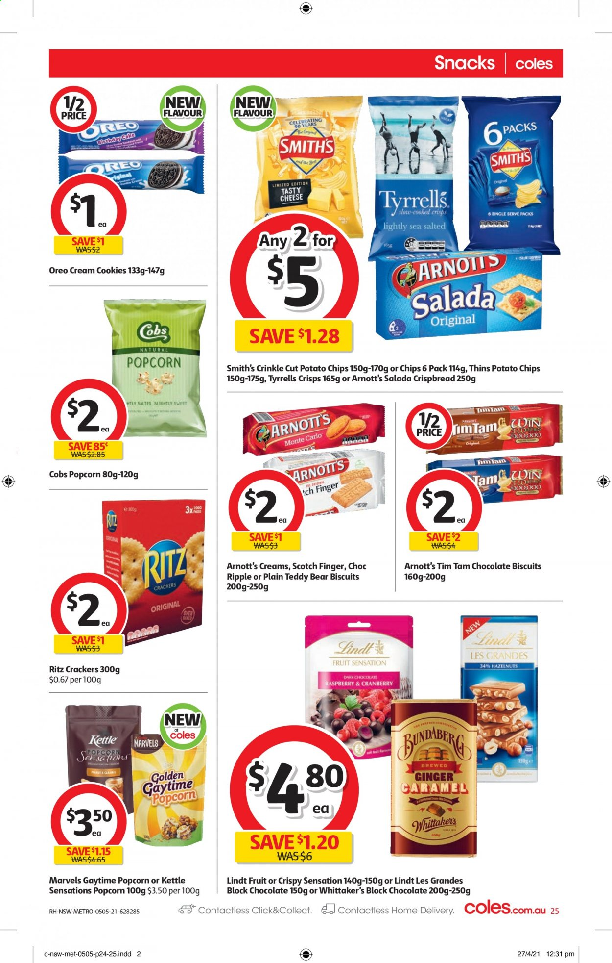 Coles catalogue  - 5.5.2021 - 11.5.2021. Page 25.