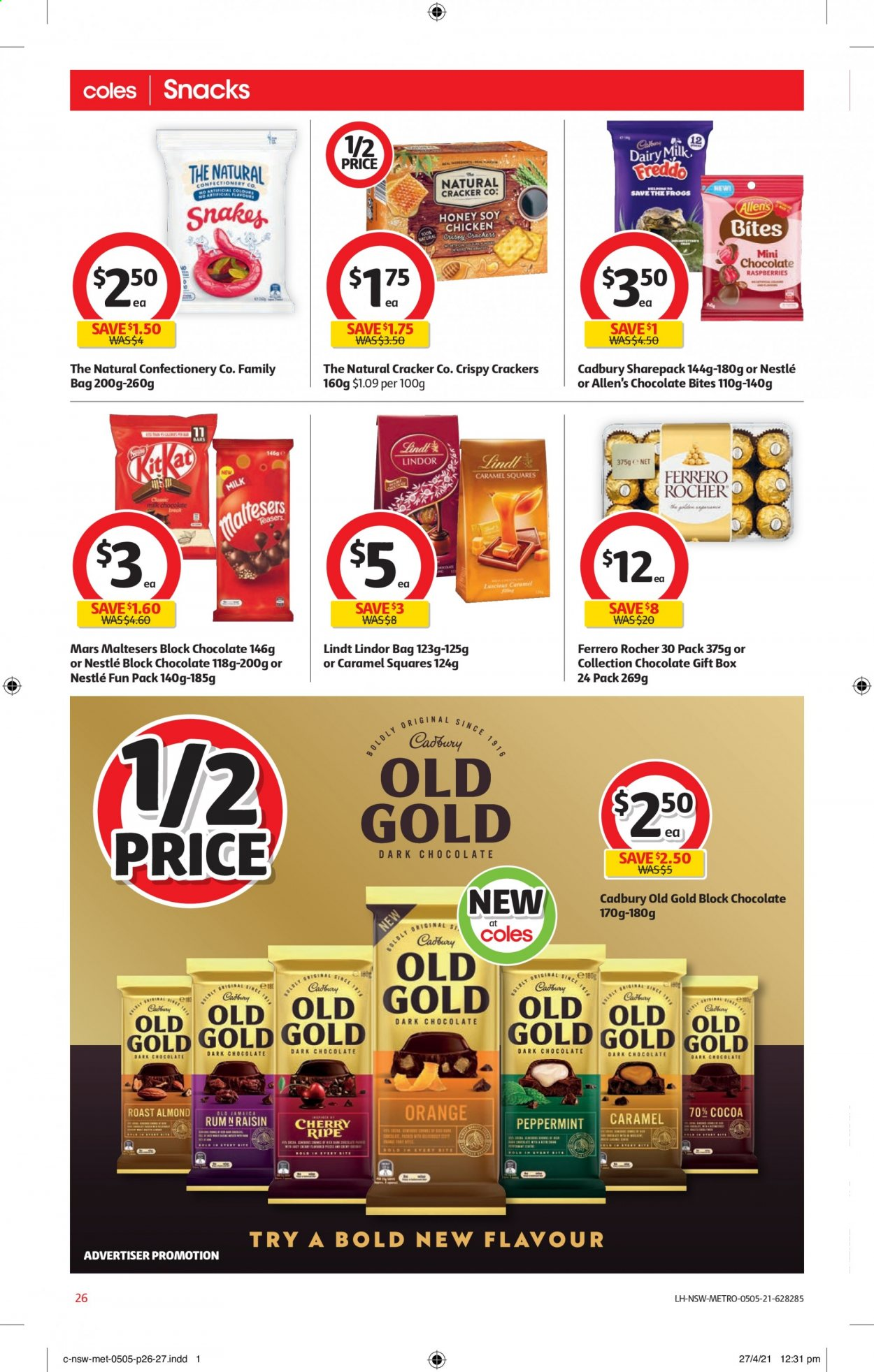 Coles catalogue  - 5.5.2021 - 11.5.2021. Page 26.
