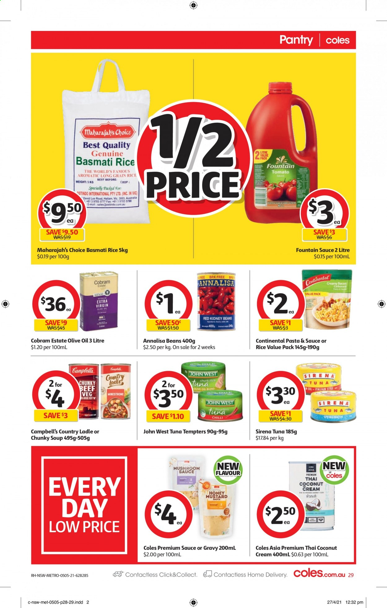 Coles catalogue  - 5.5.2021 - 11.5.2021. Page 29.