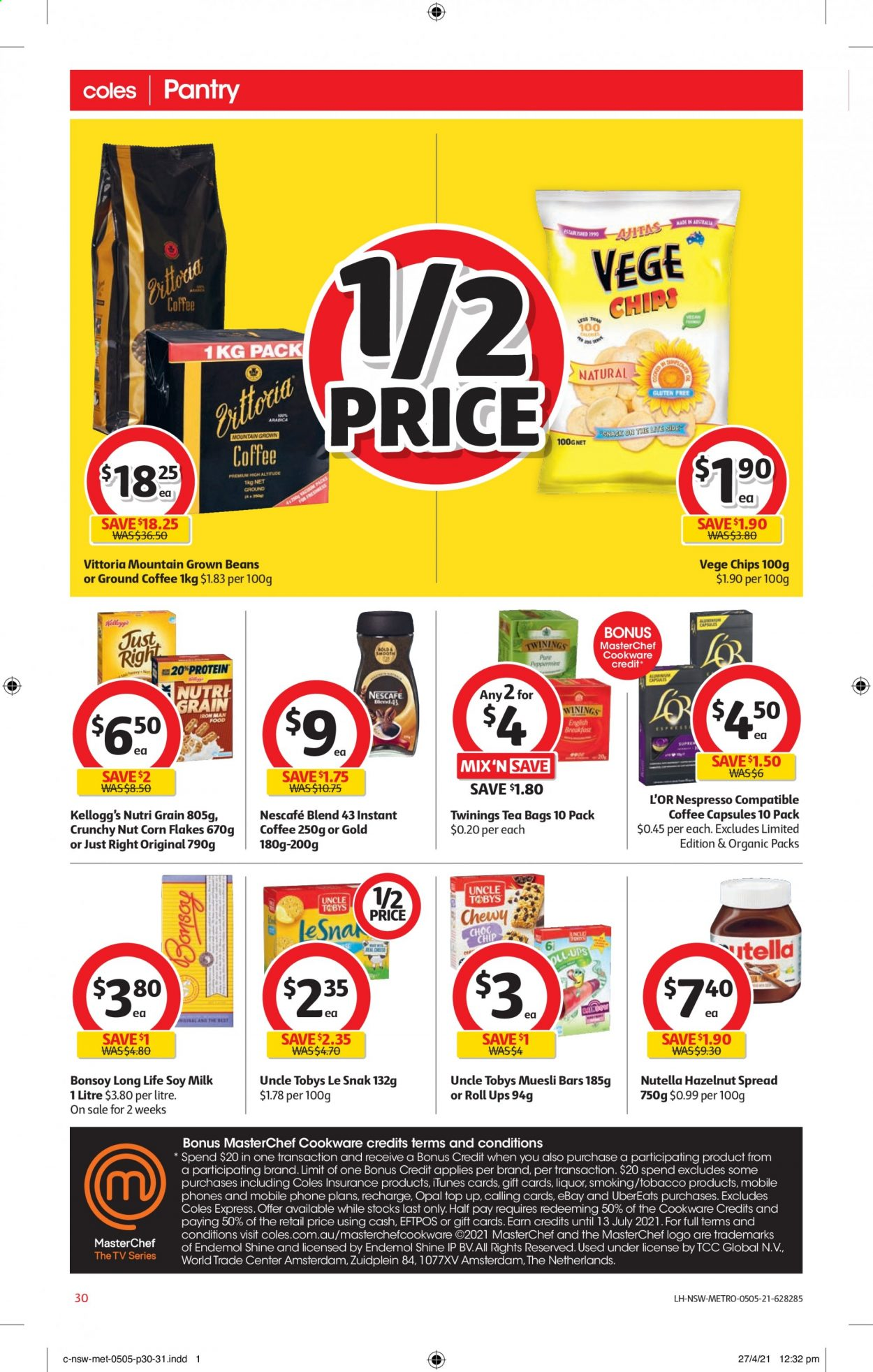 Coles catalogue  - 5.5.2021 - 11.5.2021. Page 30.
