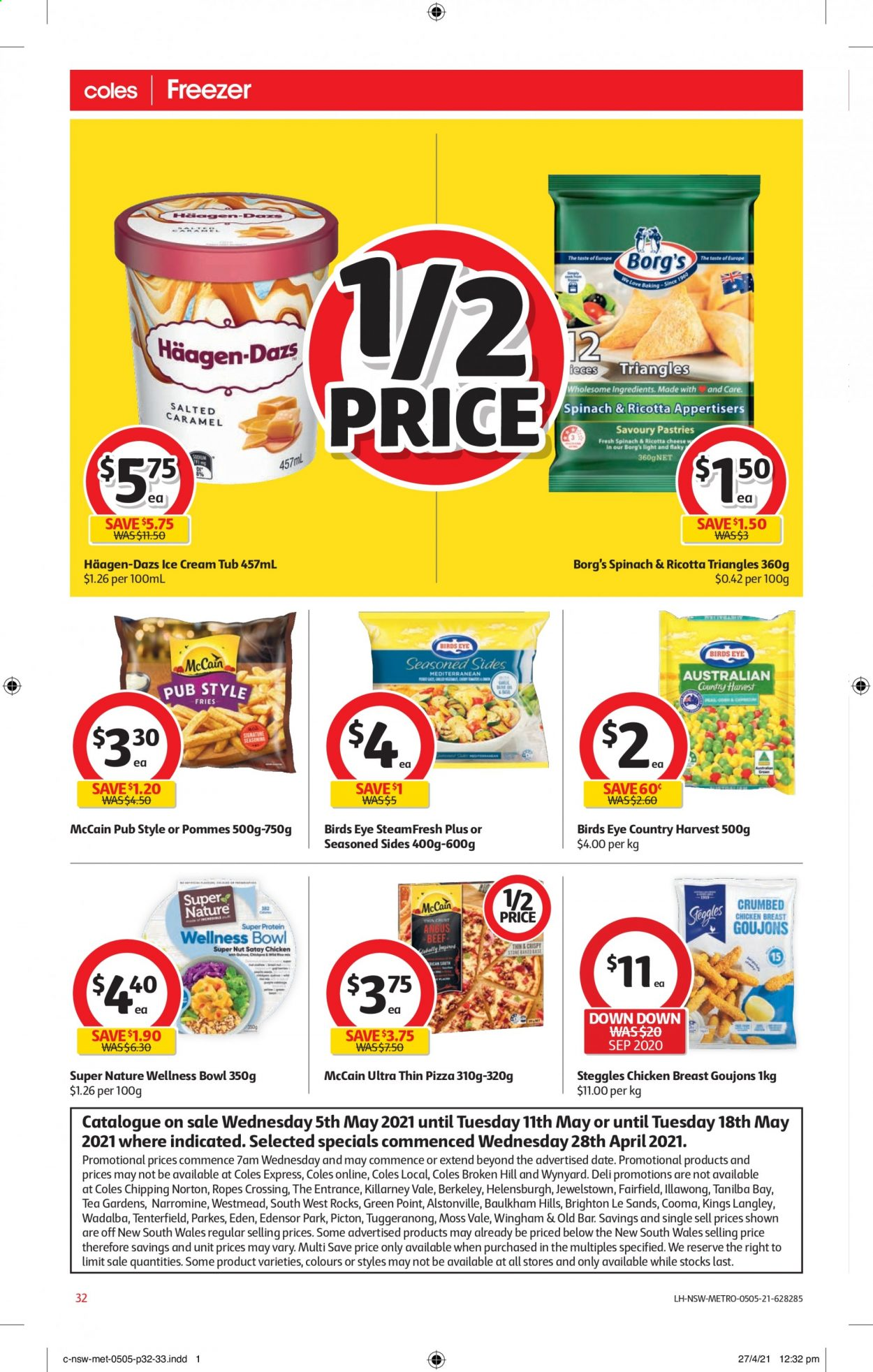 Coles catalogue  - 5.5.2021 - 11.5.2021. Page 32.