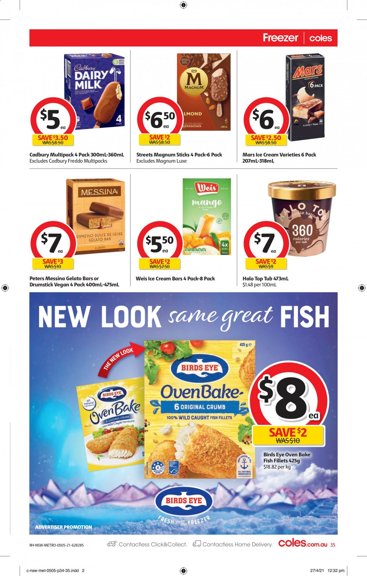 Coles catalogue  - 5.5.2021 - 11.5.2021. Page 35.