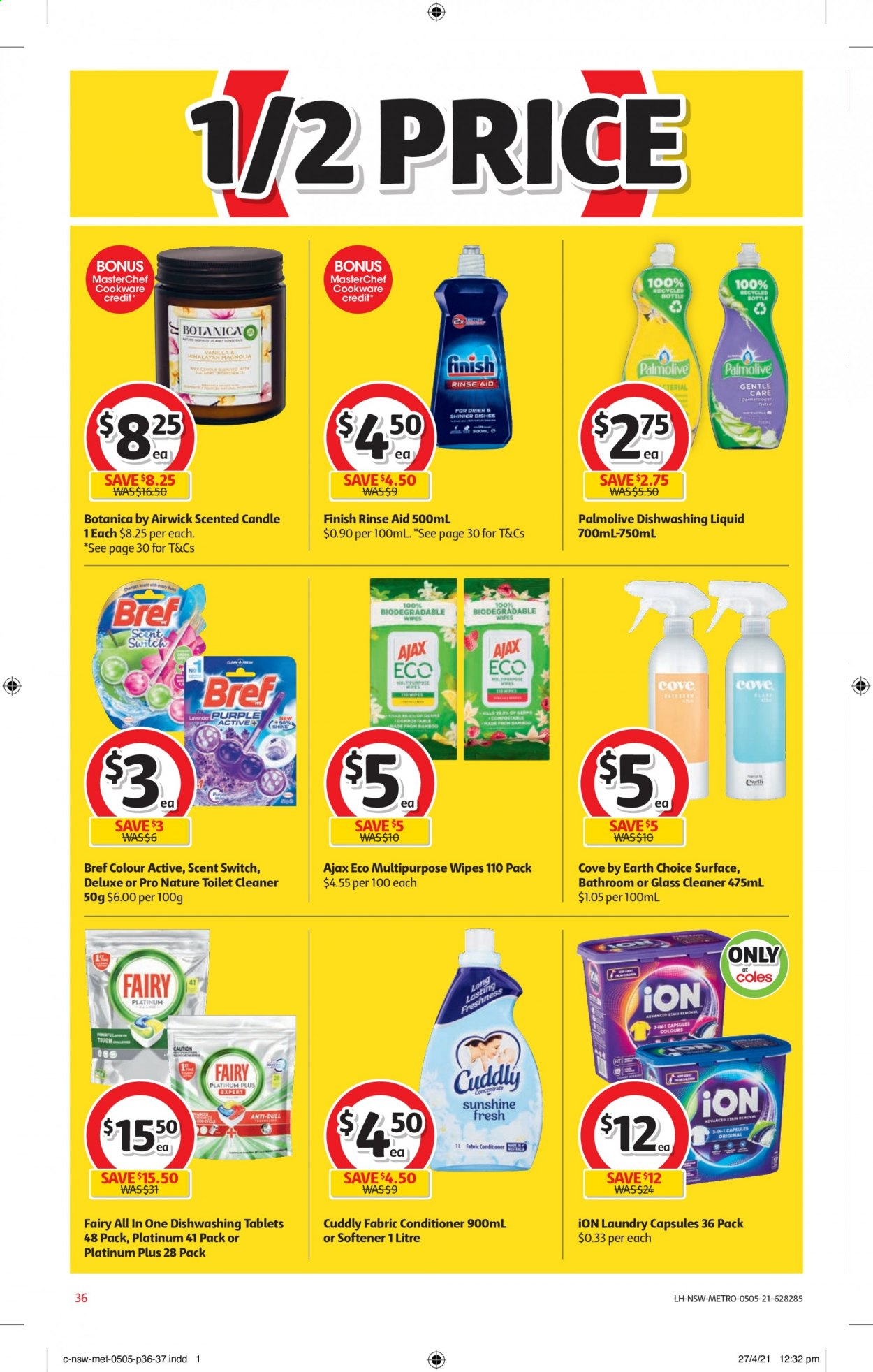 Coles catalogue  - 5.5.2021 - 11.5.2021. Page 36.