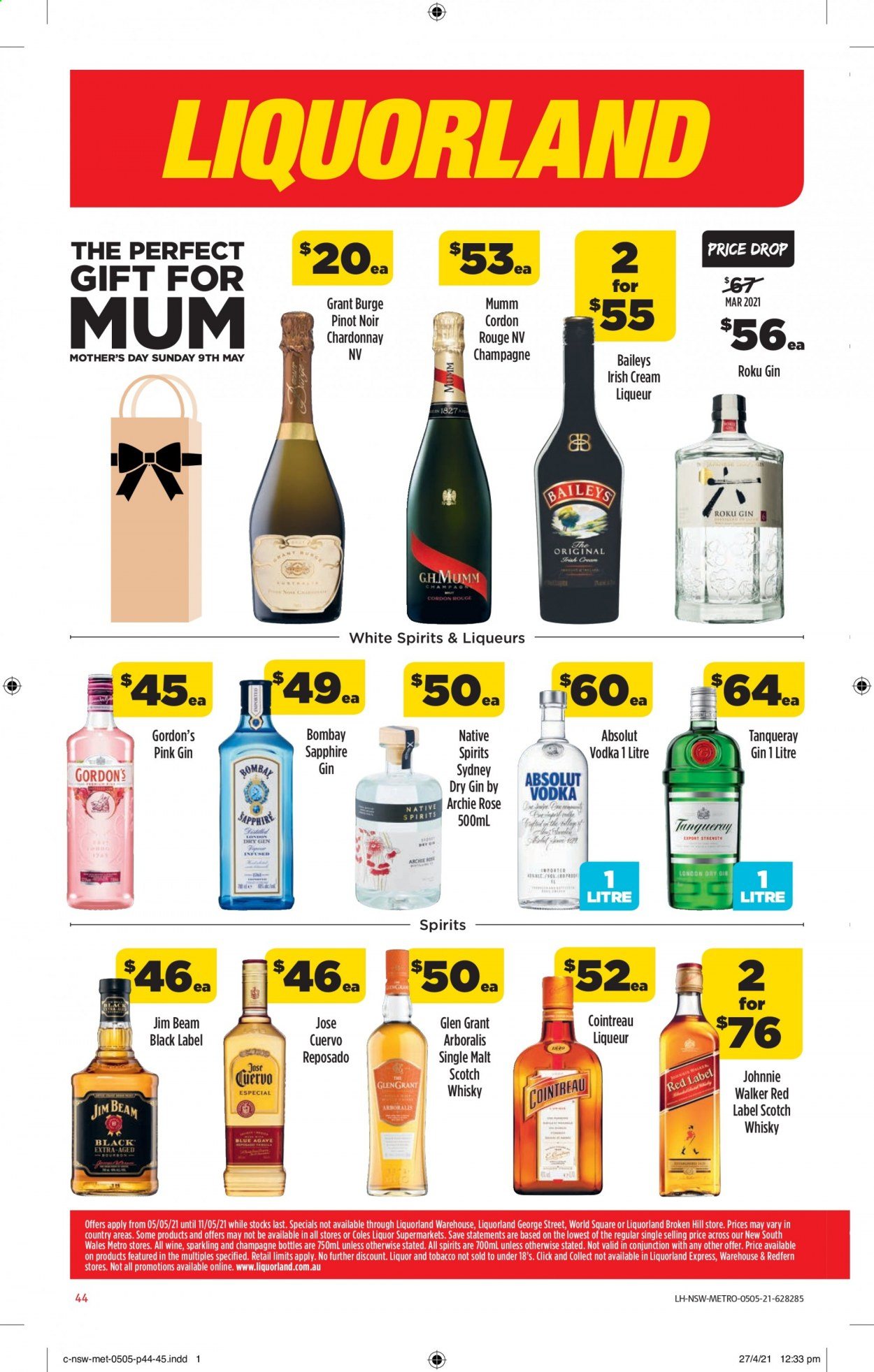 Coles catalogue  - 5.5.2021 - 11.5.2021. Page 44.