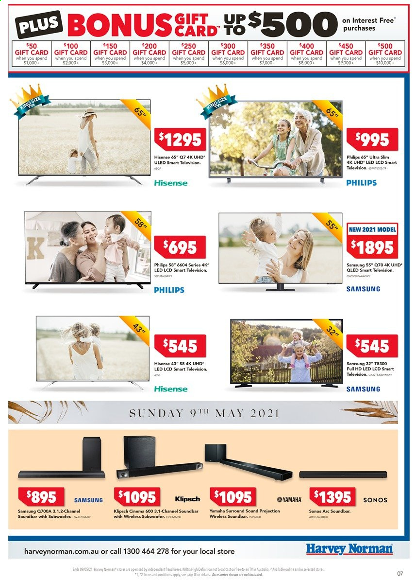Harvey Norman catalogue  - 4.5.2021 - 9.5.2021. Page 7.