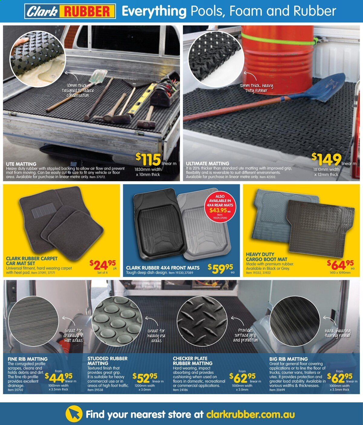 Clark Rubber catalogue  - 4.5.2021 - 16.5.2021. Page 16.
