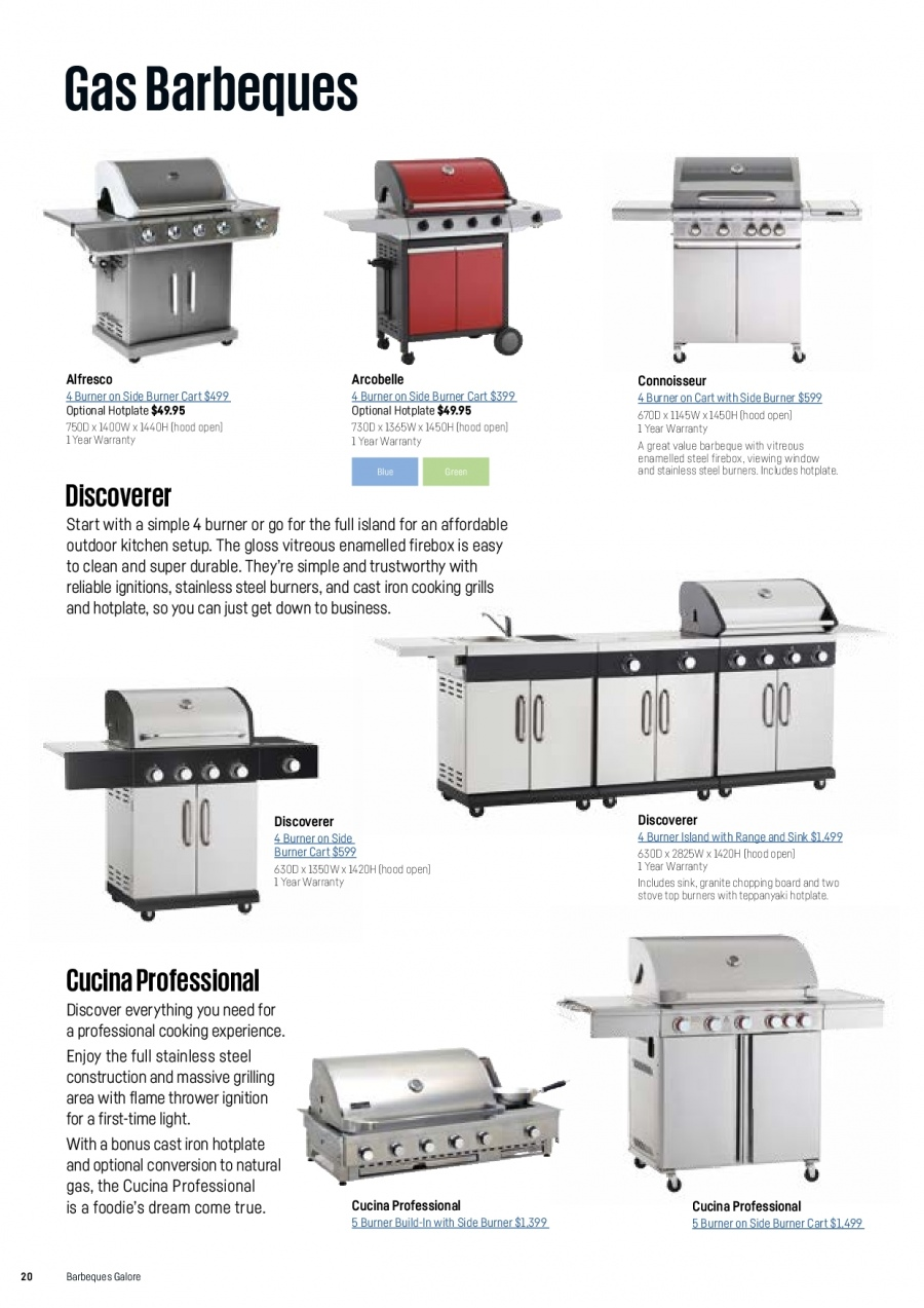 Barbeques Galore catalogue  - 1.10.2017 - 31.8.2018. Page 22.