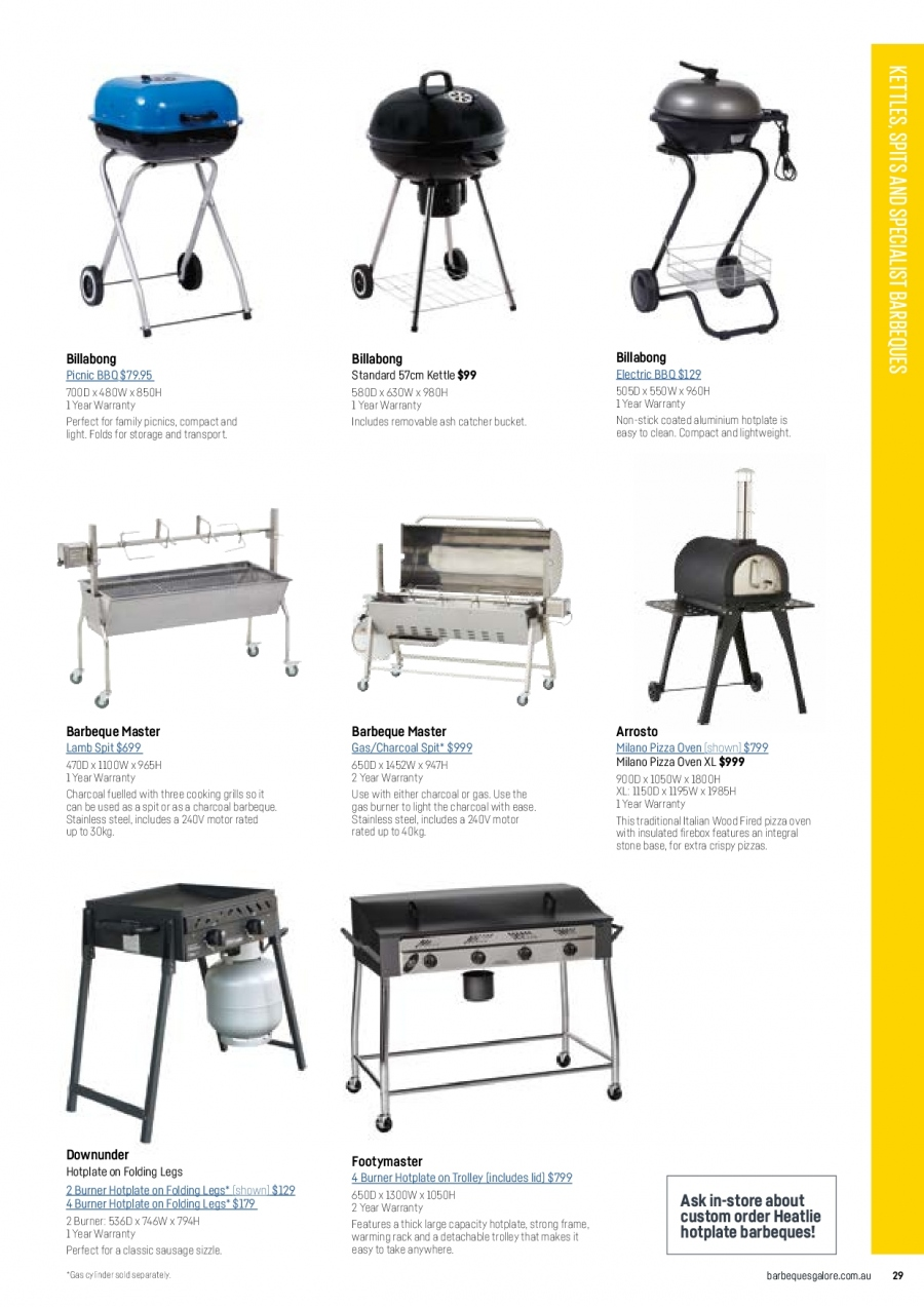 Barbeques Galore catalogue  - 1.10.2017 - 31.8.2018. Page 31.
