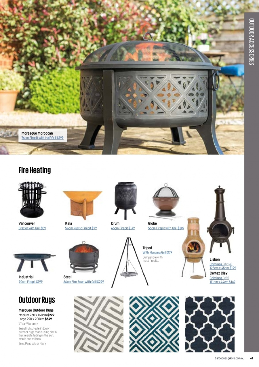 Barbeques Galore catalogue  - 1.10.2017 - 31.8.2018. Page 63.