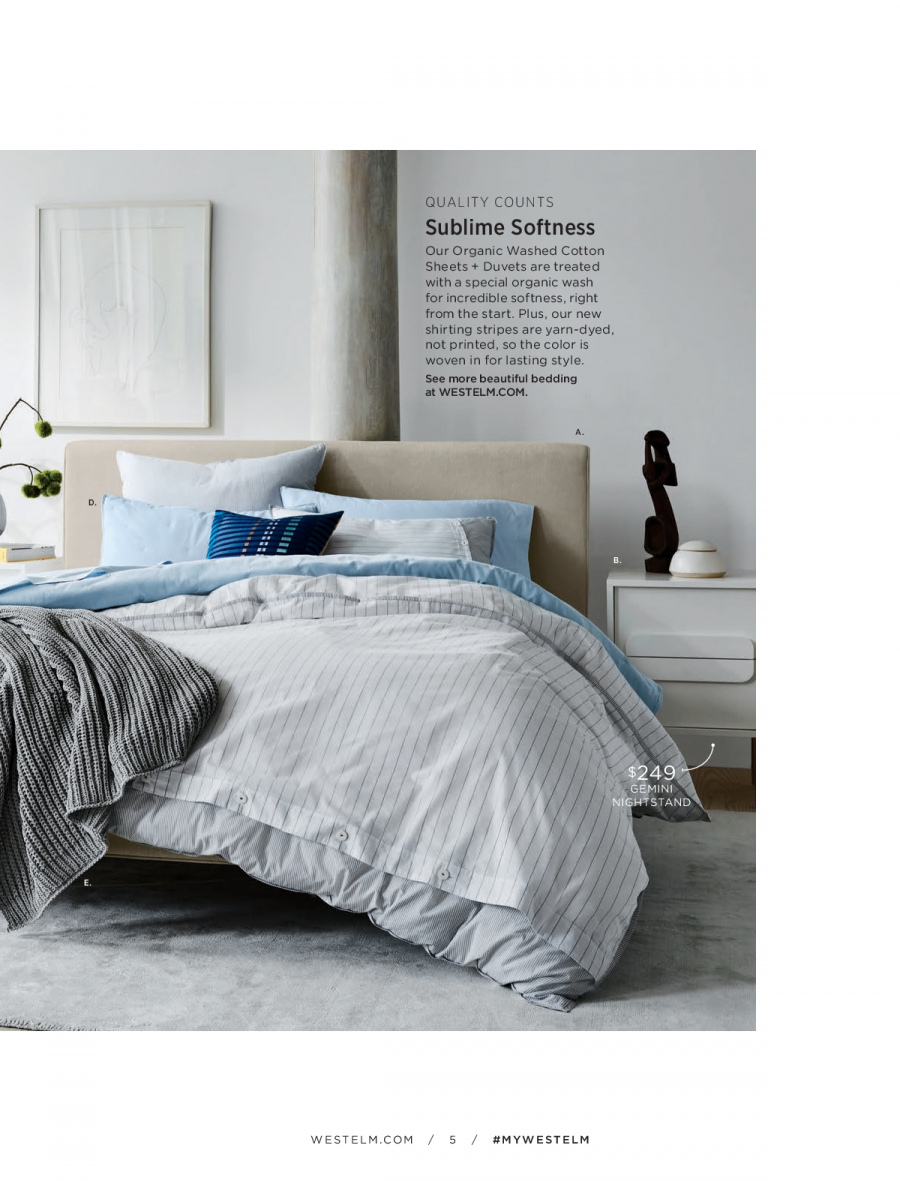 West Elm catalogue  - 18.12.2017 - 31.1.2018. Page 5.
