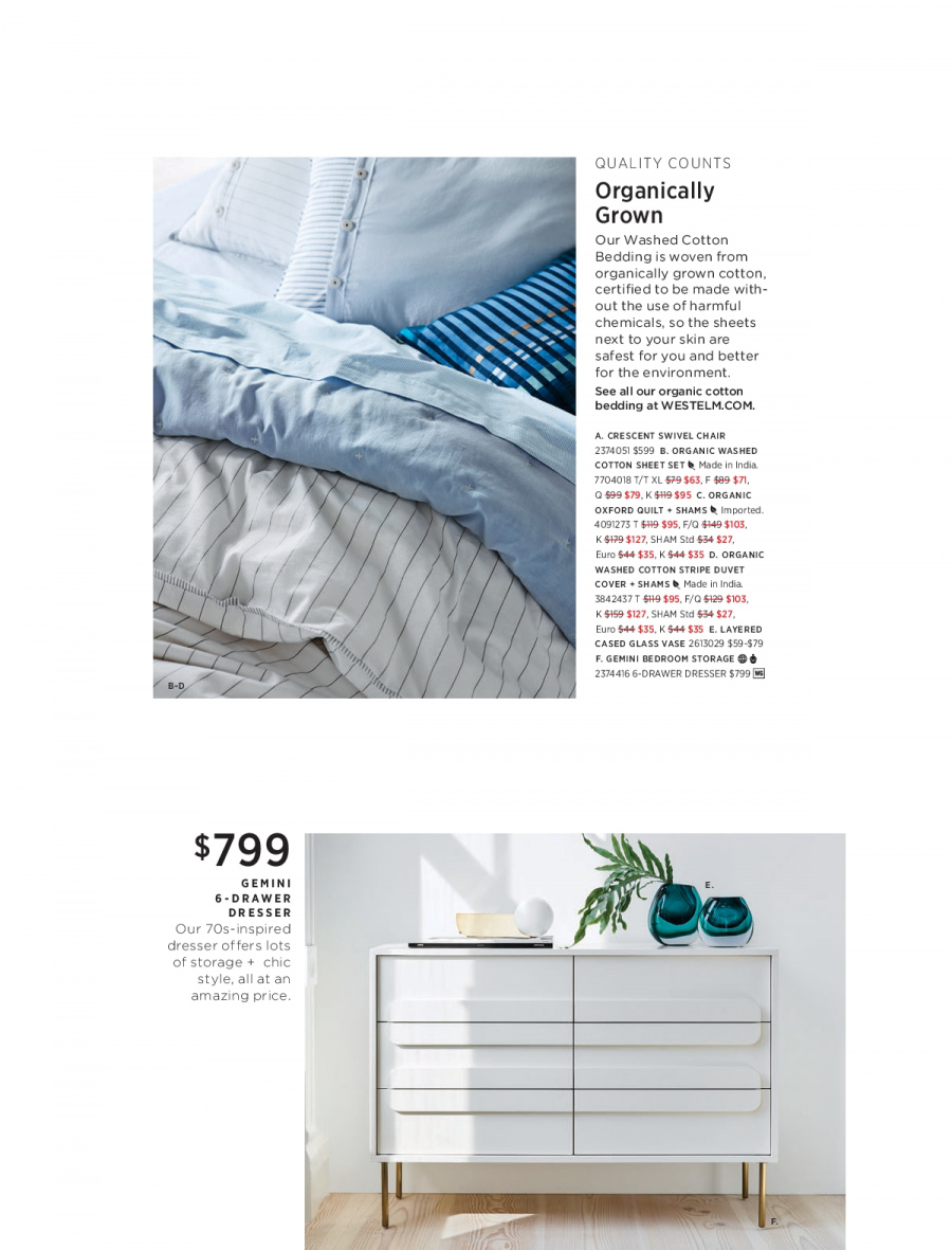 West Elm catalogue  - 18.12.2017 - 31.1.2018. Page 7.
