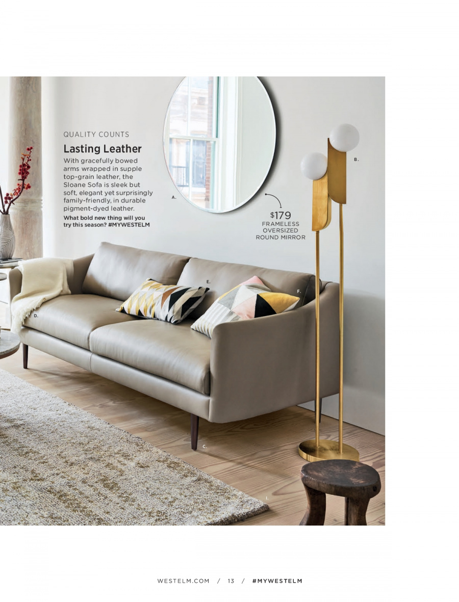 West Elm catalogue  - 18.12.2017 - 31.1.2018. Page 13.