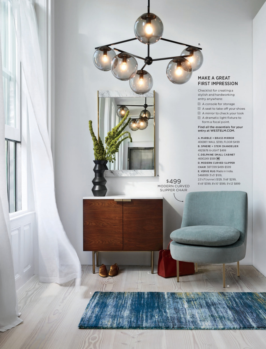 West Elm catalogue  - 18.12.2017 - 31.1.2018. Page 15.