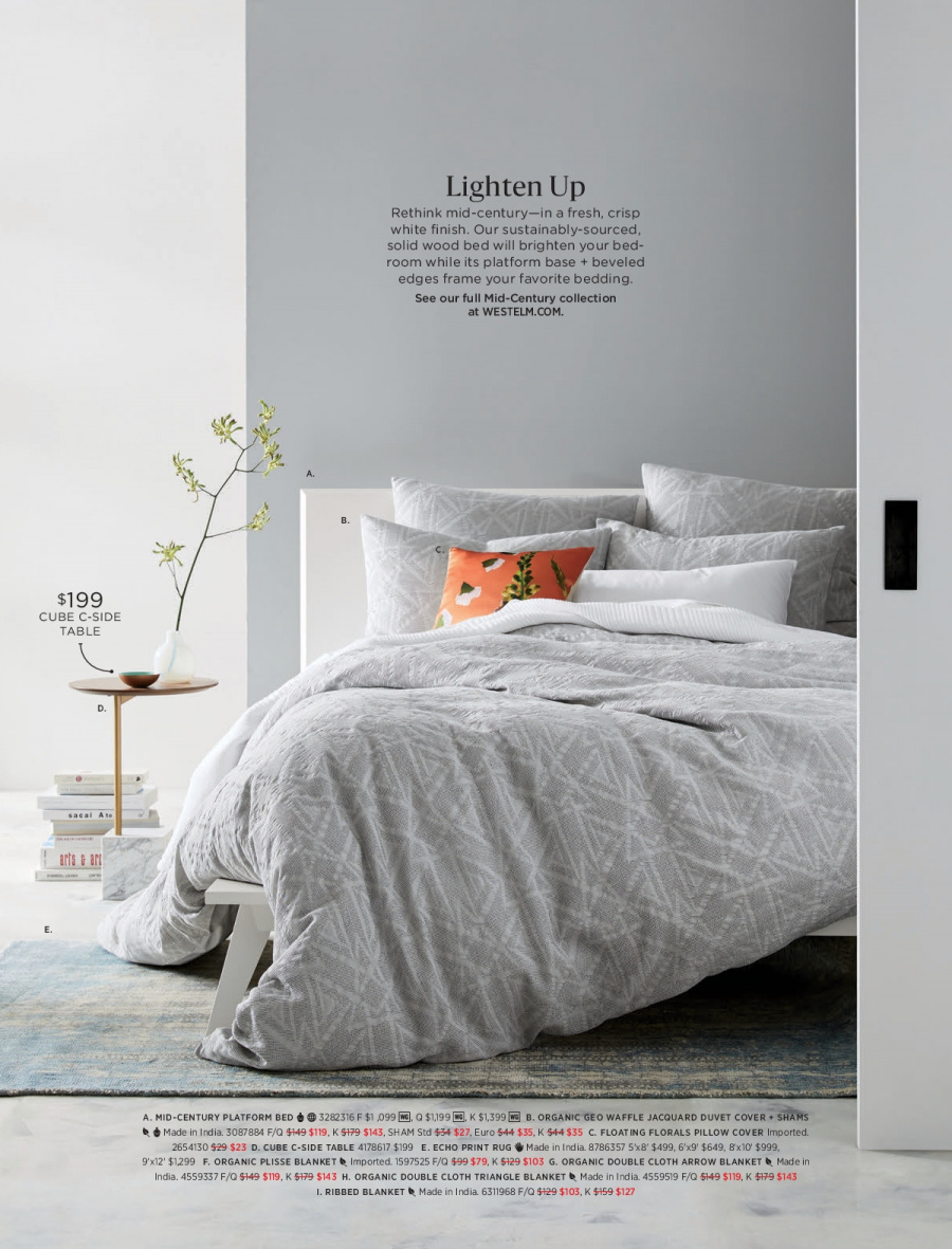 West Elm catalogue  - 18.12.2017 - 31.1.2018. Page 22.
